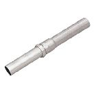 EMT Conduit, 4 in. Trade, 10 ft L, Galvanized Steel, Silver, Integral Compression Coupling