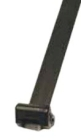 Cable Strap, 10 in. L, Dupont Delrin