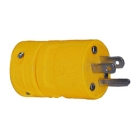 Straight Blade Plug, 15A, 125V, 2P 3W Rubber Yellow