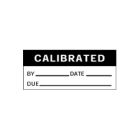 Write-On Calibration, CALIBRATION BY_DATE_DUE_, 0.62 x 1.50 in., White/Black, Rectangular, Vinyl Cloth