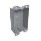 Switch Outlet Box, 8.0 cu-in, 3.00 in. H x 2.38 in. W x 1.25 in. D, 1 Gang, PVC