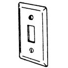 Utility Outlet Box Cover, 4 x 2-1/8 in., 1 Gang, 1-Toggle Switch Opening, Steel