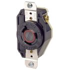 Single Locking Receptacle, 20A, 480V, 2P, 3W, Black, NEMA L8-20R, Grounding, 1.56 in. OD Face