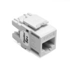 UTP Connector, IDC-Press Fit Connection, 8-Wire RJ45 Configuration, Cat 5e, White