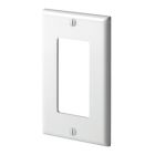 Wall Plate, Standard Size, 1 Gang, Decorator/GFCI, Thermoset, Light Almond