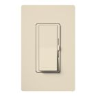 Wall Dimmer, 600W Capacity, 120V, Side Slider w/Preset Decorator Rocker, 1-Pole Operation