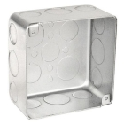 Steel Square Outlet Box 4 x 2-1/8