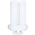 Compact Fluorescent Lamp, 13 W, T4 Bulb, G24q-1 Base, 91 V, 20000 hrs, 775 Lumens