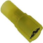 Female Disconnect, 12 - 10 AWG, Yellow, 0.250x0.032 in. Tab, Nylon Insulation, 25 Bag