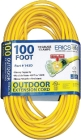 Extension Cordset 50-Ft Yellow 125V