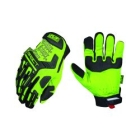 Gloves, High Visibility, Form Fitting Style, Medium