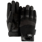 Mechanics Gloves, X-Large, Black, Armorskin, Velcro Closure Cuff, Unlined, Synthetic Leather Palm