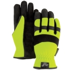 Mechanics Gloves, X-Large, Yellow, Armorskin, Slip-On Cuff, Synthetic Leather Palm