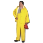 Bib Overall, 52 to 54 in., PVC Paracril on Polyester, Yellow