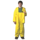 Bib Overall, 36 to 38 in., Double Coated PVC on Polyester, Yellow
