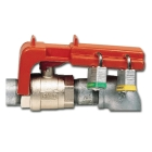 Lockout, Ball Valve; Polypropylene; Red; Valve Size: 3/8 to 1-1/4 in.