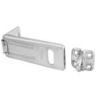 Security Hasp, 11/32 in. Dia Jaw, Zinc Plated Steel Hasp