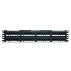 Patch Panel, 3.50 x 19.00 in., 2U Rack, 110 Termination, 48 Ports, 8 Wire Cat 6, T568A/B