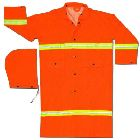Det Hood, 63 in. Chest/3X-Large, PVC/Polyester, Fluorescent Orange, (2) Patch Pockets