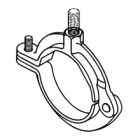 Clamp, Pipe; Hinged; Iron; Zinc Plated Finish; Size: 1 in.