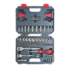 Mechanic Tool Set, 1/4 in., 3/8 in. Drive, 84 Pieces