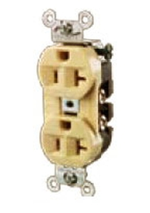 Hubbell 5362r Duplex And Single Receptacles Wesco
