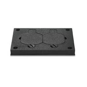 Wiremold 828pr Blk Floor Outlet Box