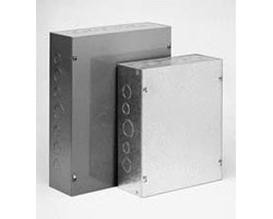 Gray Steel Screw Cover with Knockouts 10 x 8 x 4 Hoffman ASE10X8X4 Pull Box